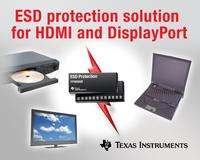 TI introduces flexible, eight-channel ESD solution for HDMI and DisplayPort