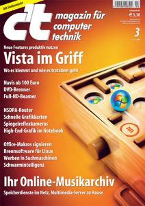 Das Titelbild der aktuellen c't-Ausgabe 3/2008