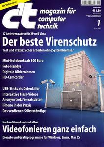 Das Titelbild der aktuellen c't-Ausgabe 1/2008
