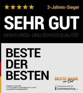 """Auszeichnung """"BESTE der BESTEN"""" 2021"""