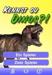 Kennst du Dinos? - Startscreen