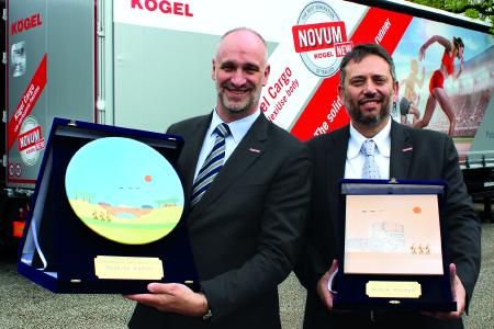 Massimo Dodoni and Michele Mastagni with their awards