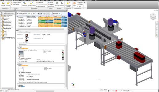 Durch die Integration der Autodesk Inventor Oberfläche können die 3D-Modelle per drag & drop mit dem Syngineer verknüpft werden / Quelle Eplan Software & Service GmbH & Co. KG