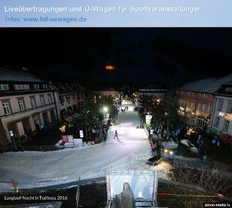 Ü-Wagen-Dienstleister SIMON MEDIA bei der Langlauf-Nacht in Todtnau