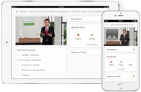 Über die Lecturio Apps haben Mitarbeiter auch unterwegs Zugriff auf die Lerninhalte - der Fortschritt wird in Echtzeit synchronisiert