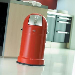 Brillux Easy-to-clean Pulverlack auf Wesco-Mülleimer