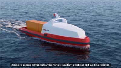 Rakuten Institute of Technology and Maritime Robotics Agree to Collaborate on Research into Unmanned Cargo Ships