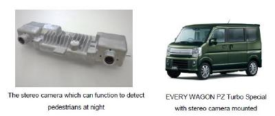Hitachi Automotive Systems stereo camera adopted in Suzuki's EVERY light commercial vehicle and EVERY WAGON light passenger vehicle