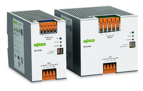 Die Stromversorgung EPSITRON® ECO Power verfügt über einen 3-phasigen Eingang AC 400 V … AC 480 V