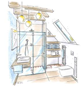 Bild 6: Plancofix-Installation auch außerhalb des Duschbereiches möglich. Foto: Geerkens Bäder Wärme Solar GmbH, Rheinberg - Pentair Jung Pumpen, Steinhagen
