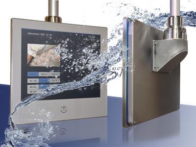 Der Industrie-PC INTUS 6800cs im Edelstahlgehäuse für tadellose Hygiene in der Lebensmittelproduktion
