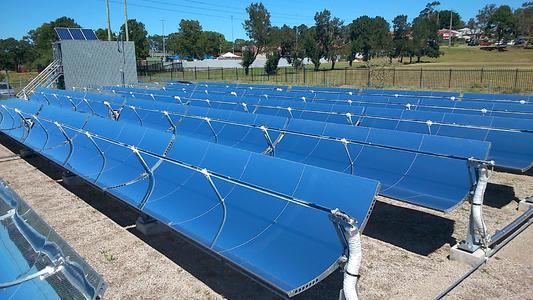 NEP Solar High Temperature Collector Field at Newcastle, Australia
