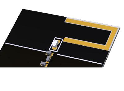 LoRa-Chip-Antenne Vega auf PCP montiert