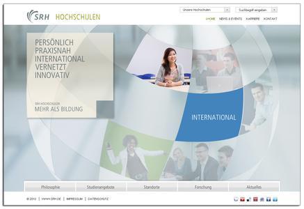 Startseite des SRH Hochschulportals