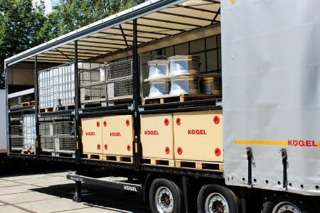Double level loading on a Kögel Mega