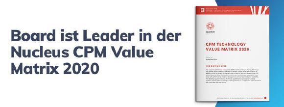 Board ist Leader in der CPM Value Matrix 2020
