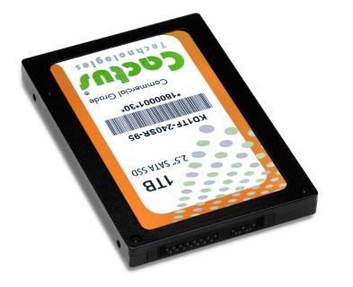 Die neuen Flash-Speicher der Cactus Technologies SSD-240SR-95 Series überzeugen mit einem ultrarobusten Stecker
