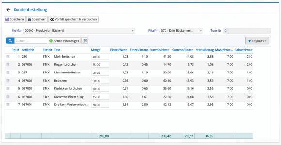 Für Filial- und Kundenbestellungen in Bäckerei, Gastronomie oder Handel einsetzbar: die Web-App Orgasoft.NET Anywhere für das Warenwirtschaftssystem Orgasoft.NET