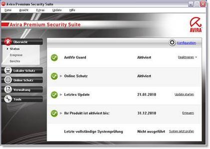 Maximierte Sicherheit: Avira AntiVir Version 10