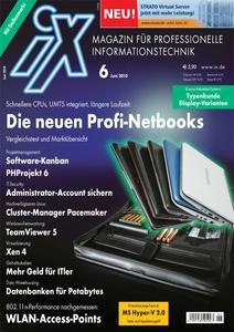 Das Titelbild der aktuellen iX-Ausgabe 6/2010