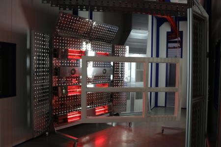 Die Halogentrocknungsanlage von Gropper ermöglicht eine effiziente und konstante Trocknung von Aqua-Lacken (Bildquelle: Remmers, Löningen)