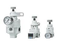 Die neuen Basis- und Präzisionsdruckregler der IR#000-A und IR#200-A-Serie von SMC kommen ohne Festdrossel aus und arbeiten dadurch mit minimalem Eigenluftverbrauch überaus wirtschaftlich.