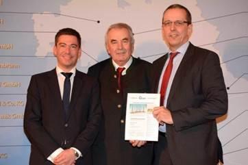 Die Novalnet AG erhält zum zweiten Mal in Folge eine Urkunde als Anerkennung für hervorragende unternehmerische Leistungen
