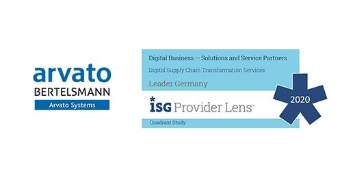 "ISG stuft Arvato Systems als Leader im Bereich ""Digital Supply Chain Transformation"" ein (Copyright: Arvato Systems/ISG)"