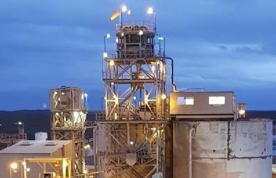 Anlage auf einer Westgold-Mine; Foto: Westgold