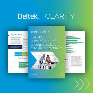 Deutsche A&E-Unternehmen adaptieren verstärkt digitale Technologien. Der Transformationsprozess schreitet zügig voran. Mit digitalen Betriebsmodellen sichert sich die Branche Wettbewerbsvorteile. Der Deltek Clarity Bericht zur Architektur- und Ingenieurindustrie 2020 in Deutschland liefert aktuelle Hintergrundinformationen.