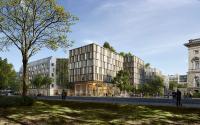 Hell, modern und nachhaltig: Der Entwurf des Erweiterungsbaus stammt von C. F. Møller Architects aus Aarhus, Dänemark, Rendering: C. F. Møller Architects/Beauty & the bit