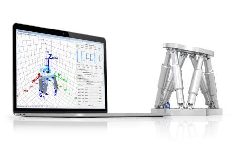 Die kostenlose Software von PI simuliert reale Anwendungssituationen und erleichtert die Auswahl des geeigneten Hexapod-Modells noch vor der Kaufentscheidung / Quelle: PI