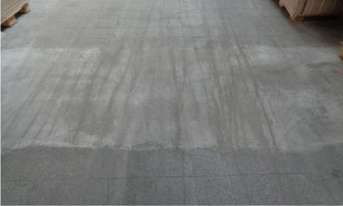 Nachher: Der Fußboden wurde angeglichen und Löcher verfüllt