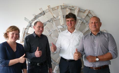 Die Geschäftsführer von United Planet und dataglobal, v.l.n.r. Katrin Beuthner, Manfred Stetz, Wolfgang Munz und Stephan Unser © United Planet GmbH