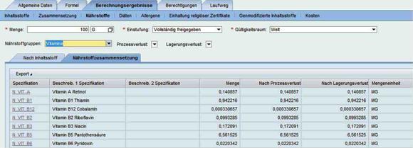 Rezepturentwicklung in Foodsprint: Beispiel einer Rezepturentwicklung in SAP RD