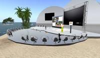 Der Arbeitskreis E-Learning trifft sich im Hörsaal AVAMEO auf der Second Life-Insel Kybernethik 1
