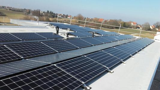 Solardach für Strom