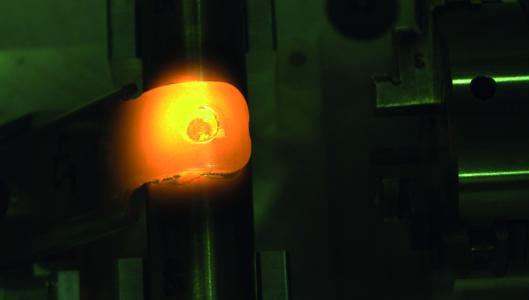 Ein Bauteil beim Laserlöten (Foto: © Hochschule Aalen / Markus Hofele)