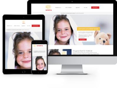 Neue Kindertal Website von netzkern überzeugt auch auf Smartphone und Tablet