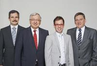 From left to right: Dr. Schittenhelm, Dr. Spanner, Mr. Spanner, Mr. Ludwig