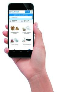 Der mobile Webshop rajapack.de ermöglicht es auch unterwegs Produkte aus der Welt der Verpackung zu entdecken und Einkäufe zu tätigen