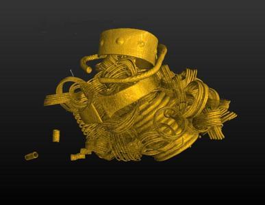 Mit Computertomographie dem Gold auf der Spur (Foto: Tröller- Reimer, NLD)