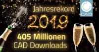 CADENAS lässt die Korken knallen: 405 Millionen 3D CAD Modelle Downloads im Rekordjahr 2019