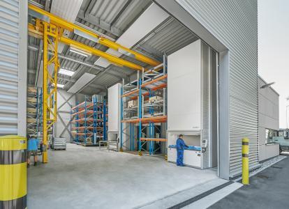 hochoptimierte Lagerung in Hänel Lean Lifte bei der Bodensee Wasserversorgung