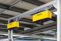 3D-A5060 3D cameras precisely locate the position of parts in the feed line