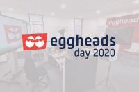 eggheads day 2021 Set mit eggheads day Logo im Vordergrund.