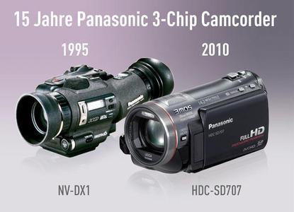 Panasonic feiert 15 Jahre 3-Chip Camcorder