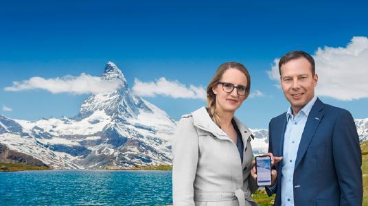 Marianne Bregenzer, Country Managerin Schweiz für die Concardis Payment Group, und Stefan Linder, CEO der Bonfire AG. © Concardis Payment Group
