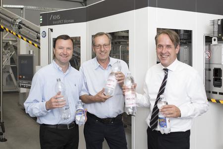 (von links) Thomas Schäfer  Geschäftsführer  Gerd Stork  Technischer Betriebsleiter  und Frank Fretwurst  KHS Corpoplast GmbH  Head of Area P