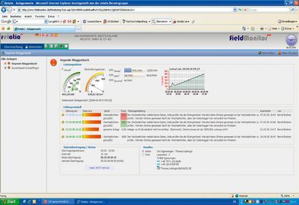 Screenshot: Fieldmonitor